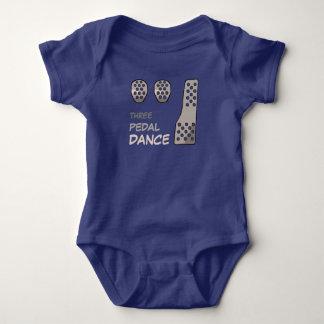 Body Para Bebê Transmissão MANUAL - dança de três pedais