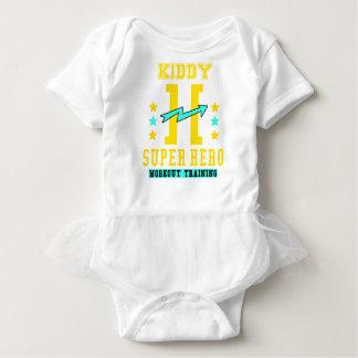 Body Para Bebê Treinamento do exercício do super-herói de Kidd
