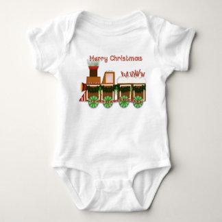 Body Para Bebê Trem de Choo Choo do Natal