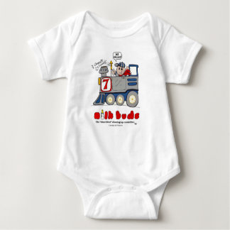 Body Para Bebê Trem de MilkBudsBabies