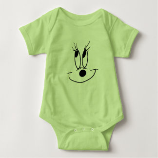 Body Para Bebê Trend_In: Bodysuit do jérsei do bebê do smiley