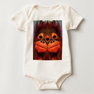Body Para Bebê Três psicadélicos macaco Eyed