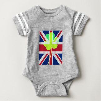Body Para Bebê Trevo britânico irlandês St Patrick Reino Unido do