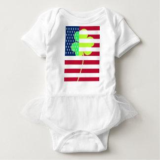 Body Para Bebê Trevo irlandês St Patrick do trevo da bandeira