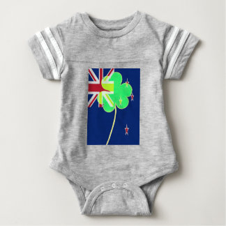 Body Para Bebê Trevo St Patrick do trevo da bandeira de Nova