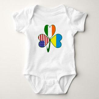 Body Para Bebê Trevo ucraniano