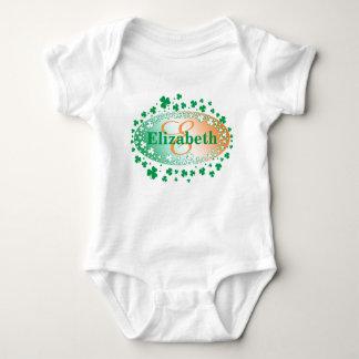 Body Para Bebê Trevos personalizados do Dia de São Patrício