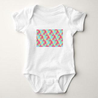 Body Para Bebê Triângulos Pastel