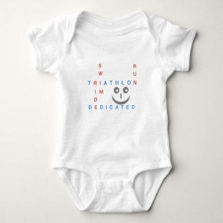 Body Para Bebê Triathlon eu sou dedicado