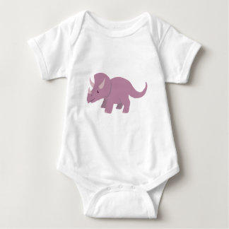 Body Para Bebê Triceratops roxo bonito (Torosaurus do bebê)