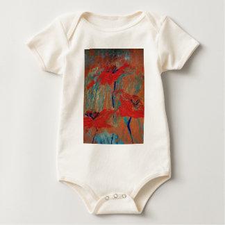 Body Para Bebê Trindade de papoilas de Califórnia