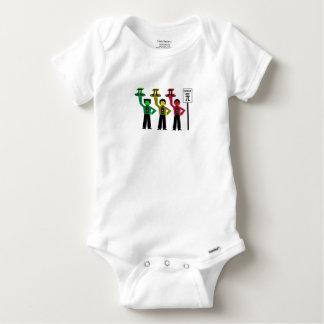 Body Para Bebê Trio temperamental do sinal de trânsito ao lado do