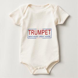 Body Para Bebê TROMBETA - faça o excelente da música outra vez!