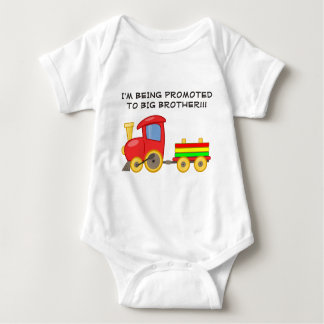 Body Para Bebê Tshirt colorido da criança do big brother do trem
