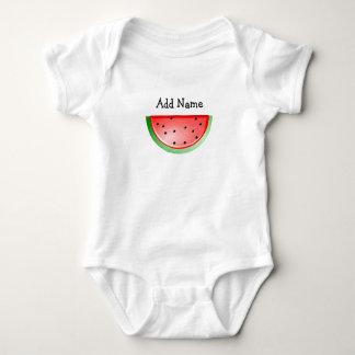 Body Para Bebê Tshirt conhecido personalizado do bebê da melancia