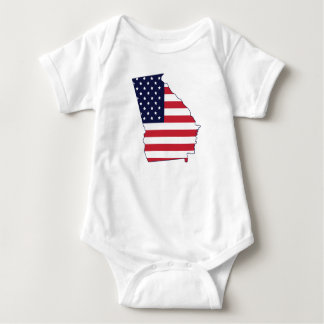 Body Para Bebê Tshirt da bandeira americana do estado de Geórgia