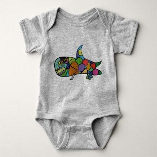 Body Para Bebê Tubarão pequeno - siga seu sonho