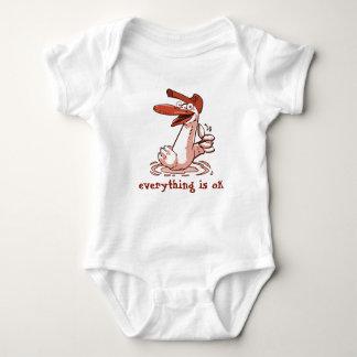 Body Para Bebê tudo é desenhos animados engraçados aprovados do