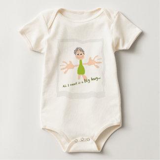 Body Para Bebê Tudo que eu preciso é um abraço grande - gráfico e