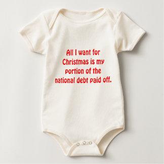 Body Para Bebê Tudo que eu quero para o Natal