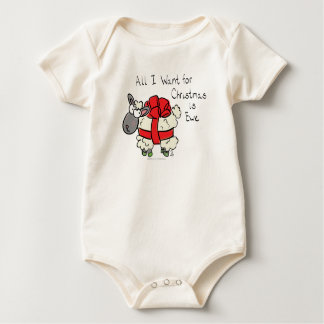Body Para Bebê Tudo que eu quero para o Natal é bebê dos desenhos