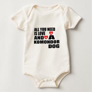 Body Para Bebê Tudo você precisa o design dos cães do amor