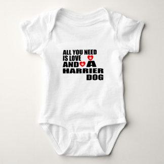 Body Para Bebê Tudo você precisa o design dos cães do HARRIER do
