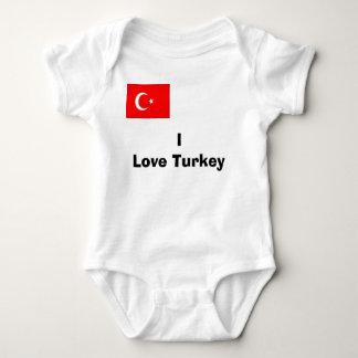Body Para Bebê turco, eu amo Turquia