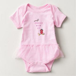 Body Para Bebê TUTU - ALIMENTE-ME E telefone MIM eu sou BONITO