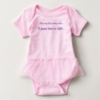 Body Para Bebê Tutu bonito do bebé