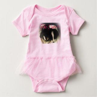 """Body Para Bebê Tutu cor-de-rosa """"demasiado bonito"""" uma parte"""