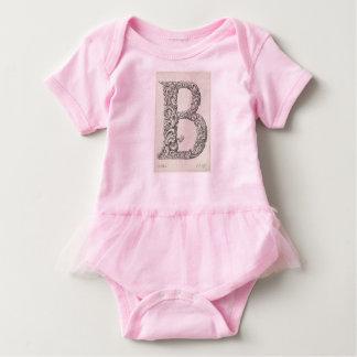 """Body Para Bebê Tutu da bailarina da letra """"B"""" do bebé"""