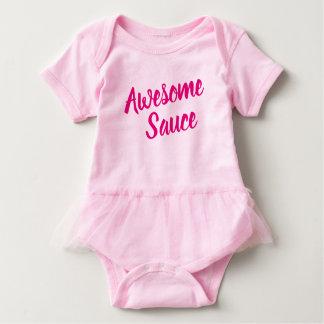 Body Para Bebê Tutu engraçado do rosa do provérbio do molho