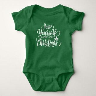 Body Para Bebê Um alegre pouco Bodysuit do jérsei do Natal |