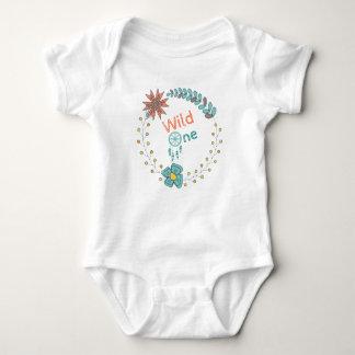 Body Para Bebê Um aniversário selvagem Boho floral Dreamcatcher