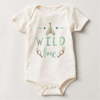 Body Para Bebê Um Bodysuit azul selvagem do bebé do Teepee tribal