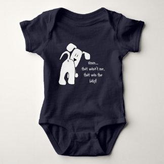 Body Para Bebê Um cão que Bodysuit engraçado do bebê do menino ou