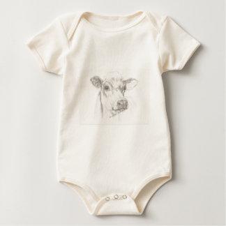 Body Para Bebê Um desenho de uma vaca nova