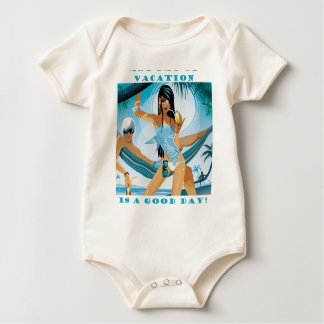 Body Para Bebê Um dia das férias