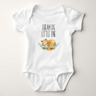 Body Para Bebê Um Fox pequeno grande ideal Babygrow