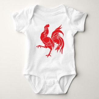 Body Para Bebê Um galo vermelho