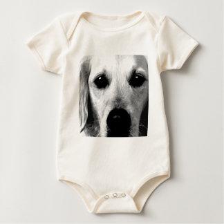 Body Para Bebê Um golden retriever preto e branco