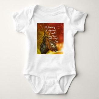 Body Para Bebê Um longo caminho começa com uma única etapa