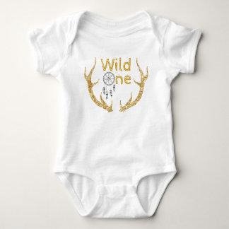 Body Para Bebê Um primeiro aniversario tribal selvagem dos