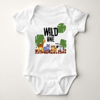 """Body Para Bebê """"UM"""" safari SELVAGEM, aniversário do tema da selva"""