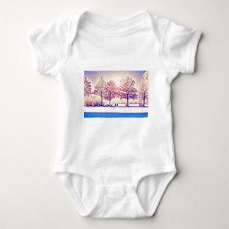 Body Para Bebê Um stroll nas madeiras