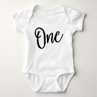 Body Para Bebê Um terno do corpo do aniversário