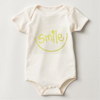 Body Para Bebê Um vestuário pequeno bonito do sorriso para seu
