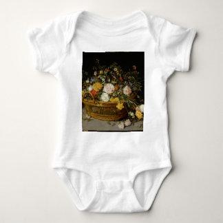 Body Para Bebê Uma cesta das flores - Jan Brueghel o mais novo