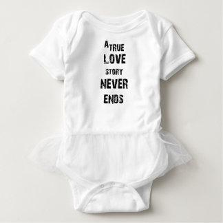 Body Para Bebê uma história de amor verdadeira nunca termina